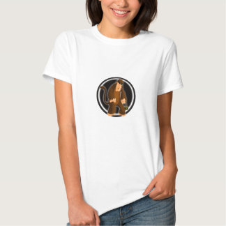 Bola do macaco para t-shirt da cor clara