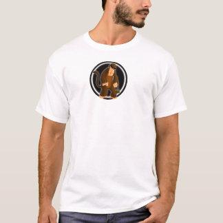 Bola do macaco para t-shirt da cor clara camiseta