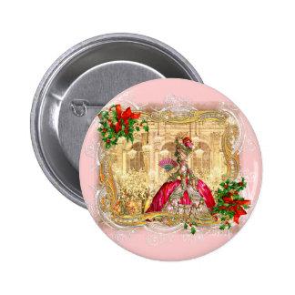 Bola do Natal de Marie Antoinette Bóton Redondo 5.08cm