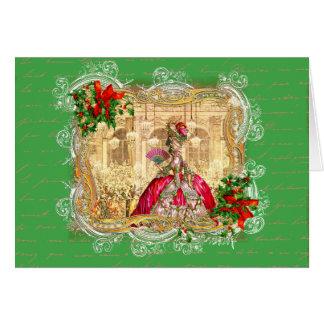 Bola do Natal de Marie Antoinette Cartão Comemorativo