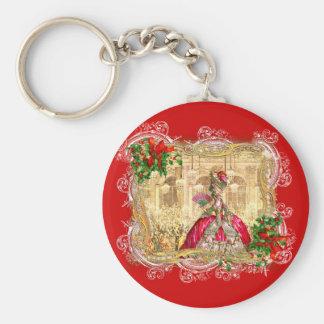 Bola do Natal de Marie Antoinette Chaveiro