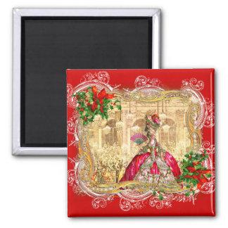 Bola do Natal de Marie Antoinette Ímã Quadrado