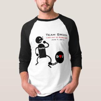 Bola do noivo da equipe & camisa da corrente
