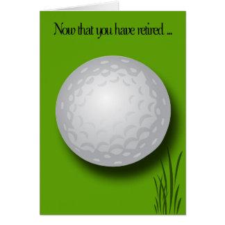 Bola do Parabéns-Golfe da aposentadoria Cartão Comemorativo