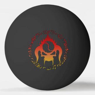 Bola do pong do sibilo de sete pecados mortais