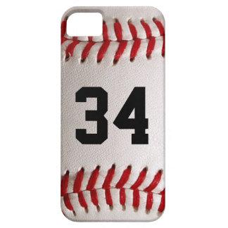 Bola e número do basebol capa barely there para iPhone 5