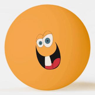 Bola engraçada de Pong do sibilo da cara do único