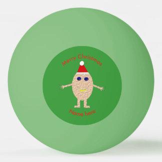 Bola engraçada de Pong do sibilo do ovo do Natal