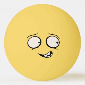 Bola engraçada mentalmente enlouquecido de Pong do