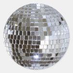 Bola espelhada do disco adesivos em formato redondos