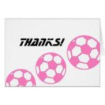 Bola-Obrigados cor-de-rosa do futebol! Cartão
