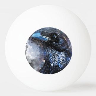 Bola Para Ping-pong #animals do #bird do #crow da arte do corvo