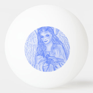Bola Para Ping-pong Anjo calmo no azul