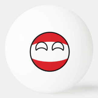 Bola Para Ping-pong Áustria Geeky de tensão engraçada Countryball