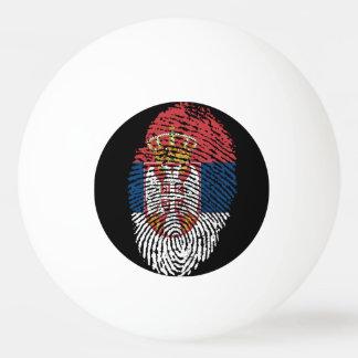 Bola Para Ping Pong Bandeira sérvio da impressão digital do toque