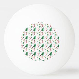 Bola Para Ping-pong Bastões de doces, visco, e árvores de Natal