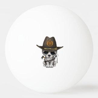 Bola Para Ping Pong Caçador bonito do zombi de Cub de lobo