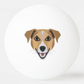 Bola Para Ping-pong Cão Terrier de sorriso da ilustração