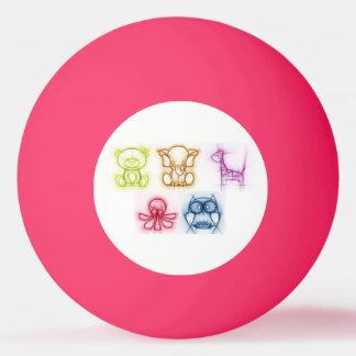 Bola Para Ping Pong Cores animais