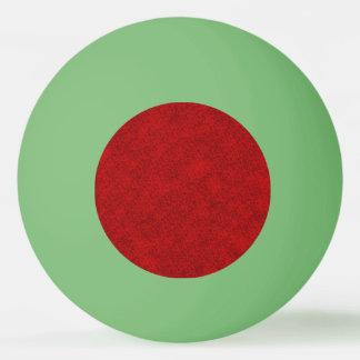 Bola Para Ping-pong Design vermelho da textura do Natal