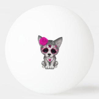 Bola Para Ping-pong Dia cor-de-rosa do lobo Cub inoperante