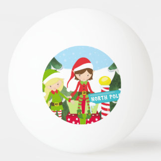 Bola Para Ping Pong Dois duendes no Pólo Norte