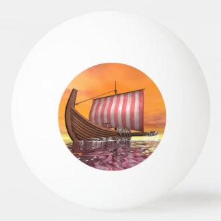 Bola Para Ping-pong Drakkar ou navio de viquingue - 3D rendem