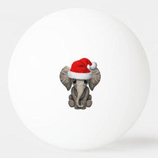 Bola Para Ping Pong Elefante do bebê que veste um chapéu do papai noel