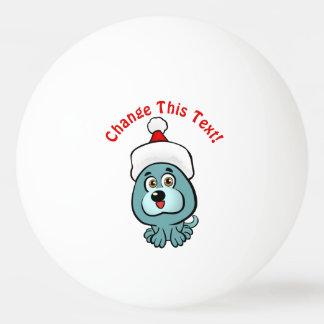 Bola Para Ping-pong Filhote de cachorro engraçado Papai Noel