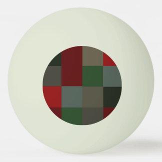 Bola Para Ping-pong Fulgor da xadrez do Natal no design verde escuro