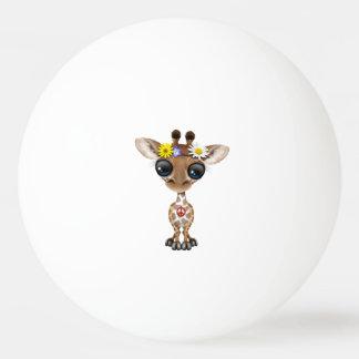 Bola Para Ping Pong Hippie bonito do girafa do bebê