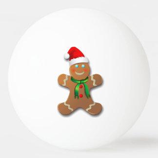 Bola Para Ping-pong Homem de pão-de-espécie bonito com um chapéu