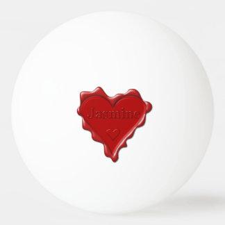 Bola Para Ping Pong Jasmim. Selo vermelho da cera do coração com