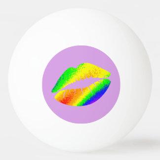 Bola Para Ping-pong Lábios coloridos arco-íris