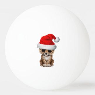 Bola Para Ping Pong Leopardo bonito Cub que veste um chapéu do papai