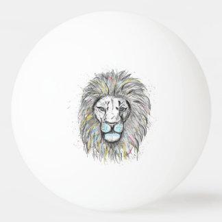 Bola Para Ping-pong Mão legal o leão tirado do esboço e da aguarela