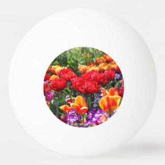 Bola Para Ping-pong Ondas florais dos carmesins de Falln