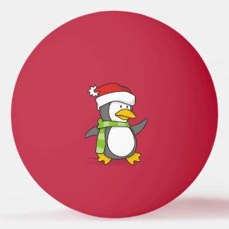 Bola Para Ping-pong Pinguim do Natal que anda na neve