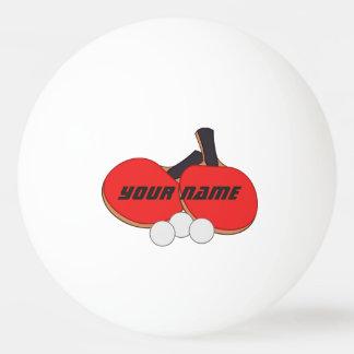Bola Para Ping Pong Preto vermelho personalizado do ténis de mesa