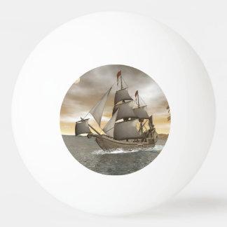 Bola Para Ping Pong Sair do navio de pirata - 3D rendem