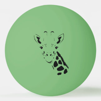 Bola Para Ping Pong Silhueta da cara do girafa