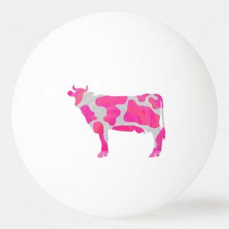 Bola Para Ping-pong Silhueta do rosa quente e do branco da vaca
