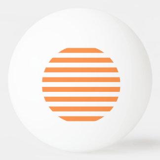 Bola Para Ping-pong Teste padrão alaranjado e branco da listra