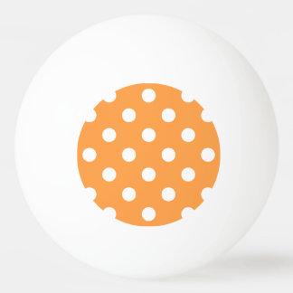 Bola Para Ping-pong Teste padrão de bolinhas alaranjado