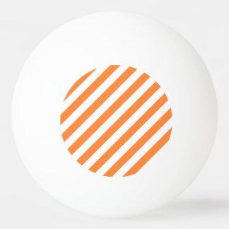 Bola Para Ping Pong Teste padrão diagonal alaranjado e branco das