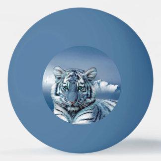 Bola Para Ping Pong Tigre branco azul