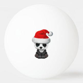 Bola Para Ping-pong Urso de panda do bebê que veste um chapéu do papai