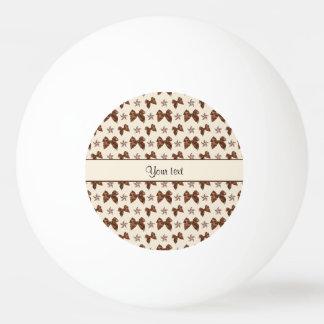 Bola Para Tênis De Mesa Arcos bonitos do cetim de Brown