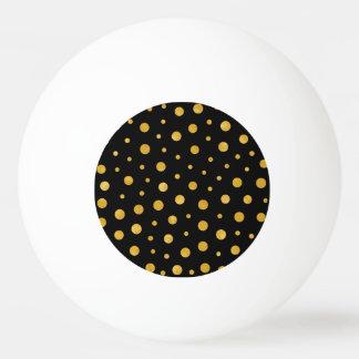 Bola Para Tênis De Mesa Bolinhas elegantes - ouro preto