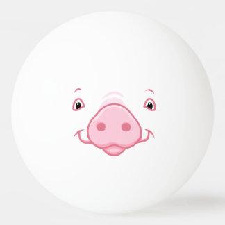 Bola Para Tênis De Mesa Cara cor-de-rosa feliz bonito do porco